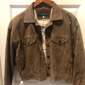 Sundance Leather bomber jacket. Worn once
